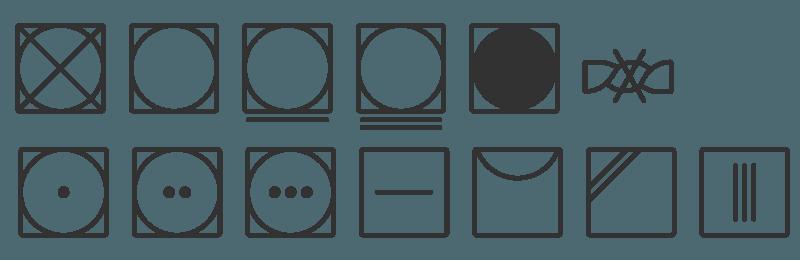 Wassymbolen voor drogen