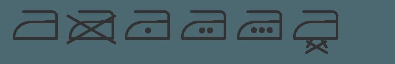 wassymbolen voor strijken