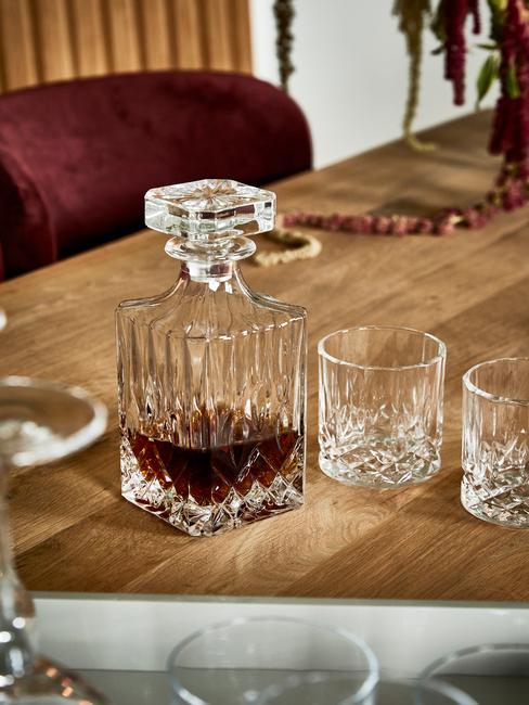 Whiskyglazen en whiskykaraf