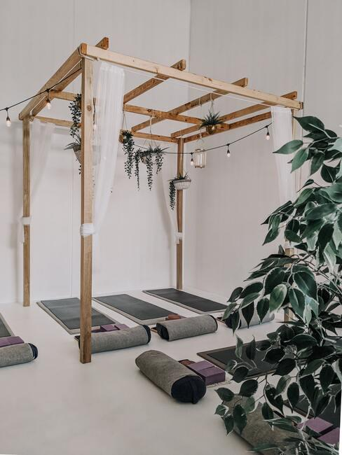 Yoga space in je woonkamer