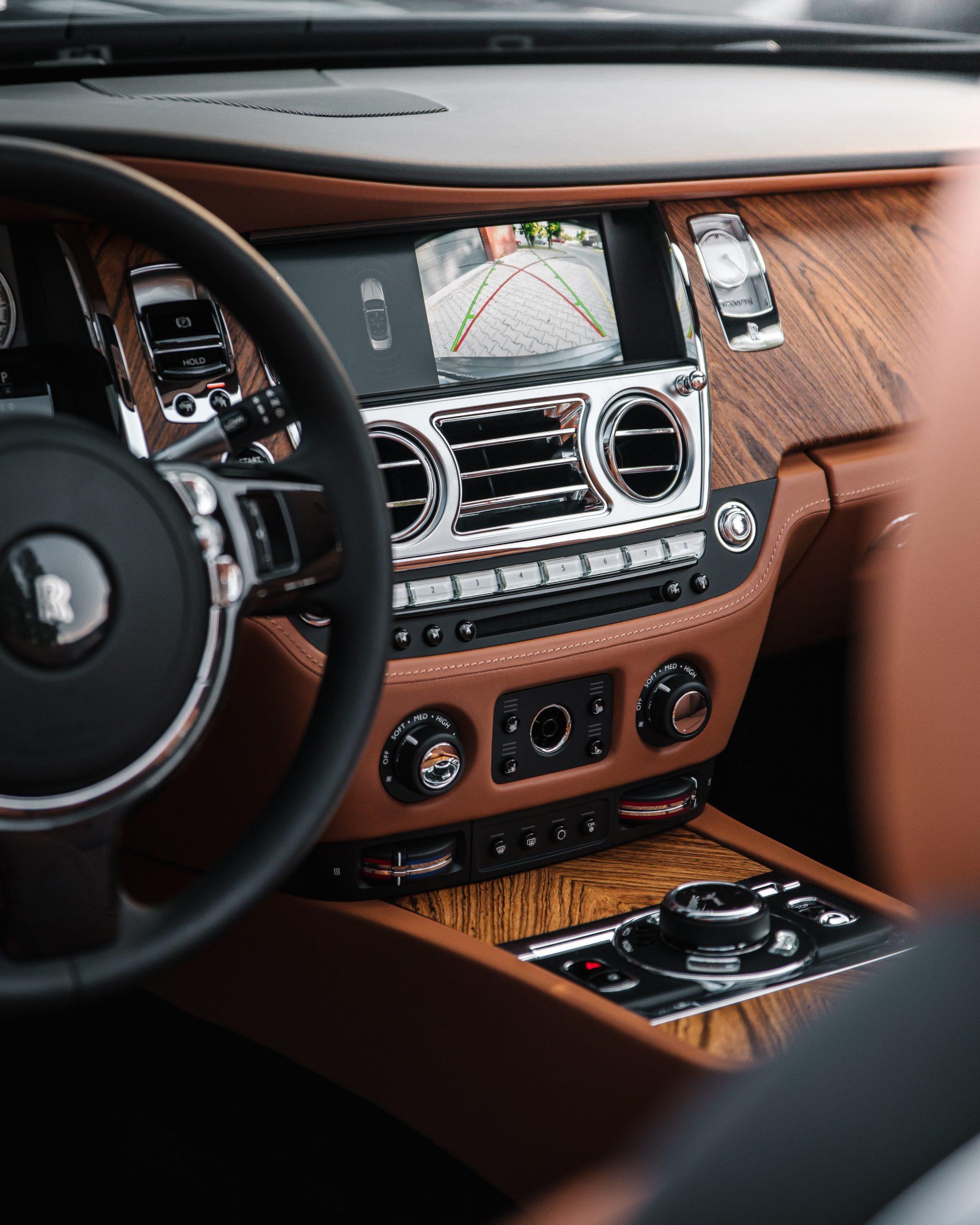 binnenkant van een auto