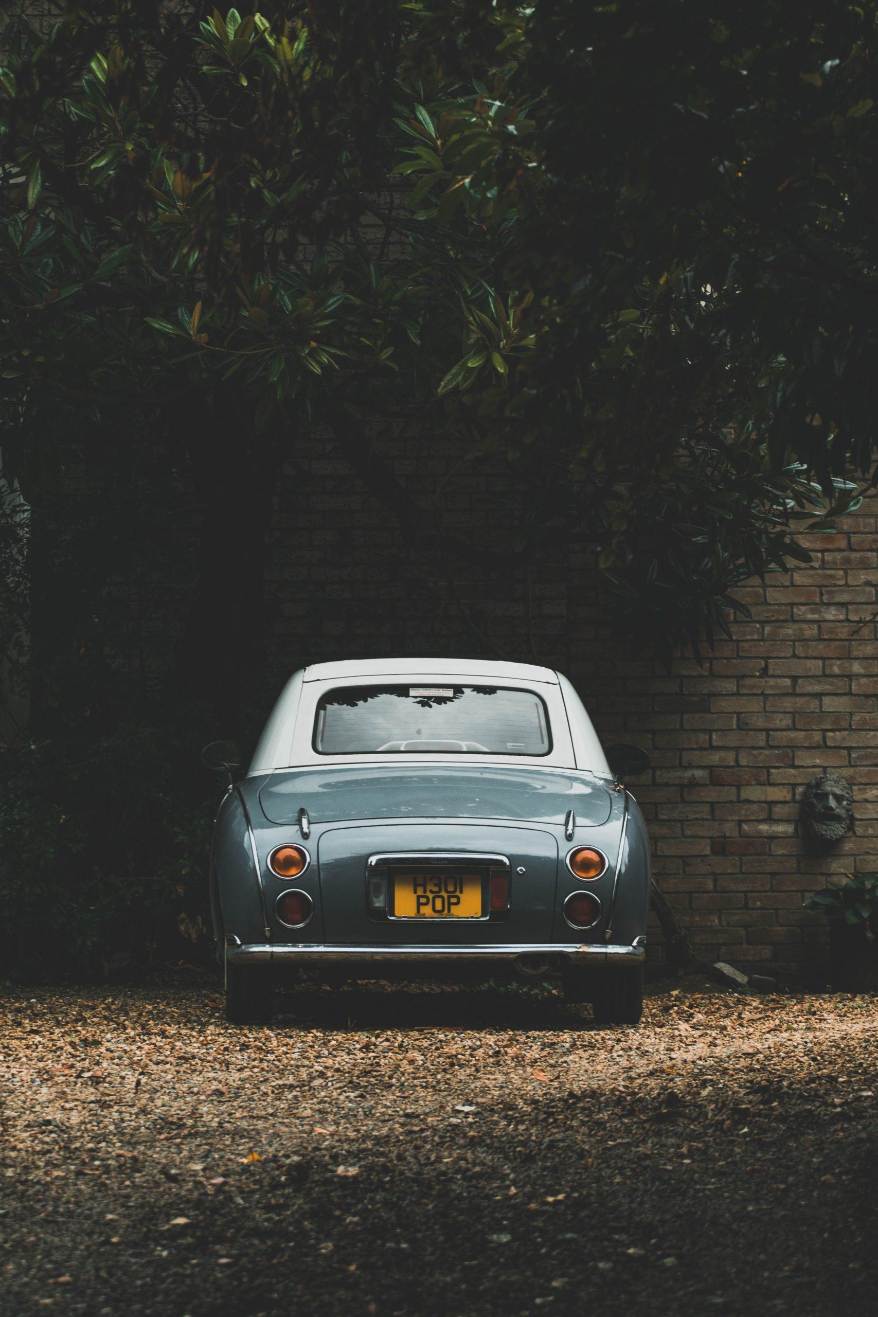 groene oude auto