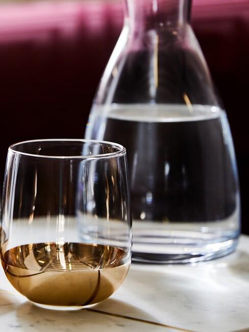 Water glas en karaf