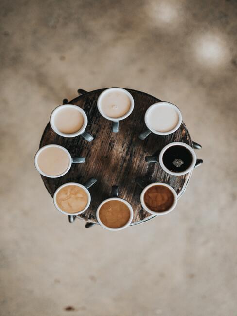 Koffie in alle kleuren