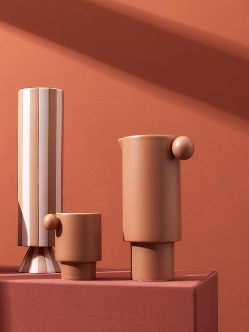 Terracotta vasen