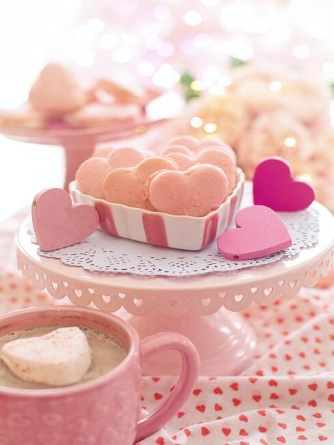 koekjes in de vorm van hartjes