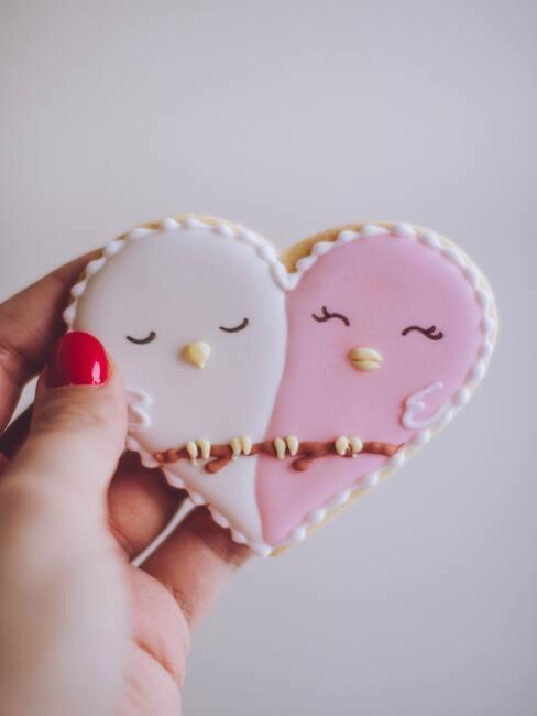 hartvormig koekje