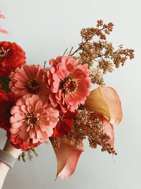 Bos bloemen voor valentijnsdag