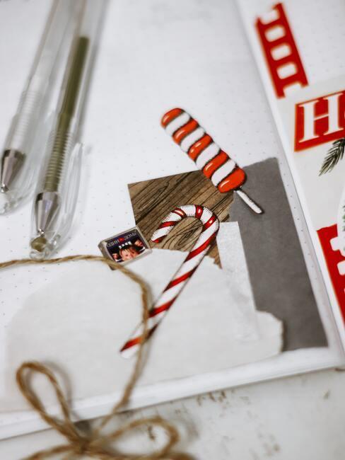 Zelfgemaakte stickers voor een schoolbord, notitieboekje of koelkast