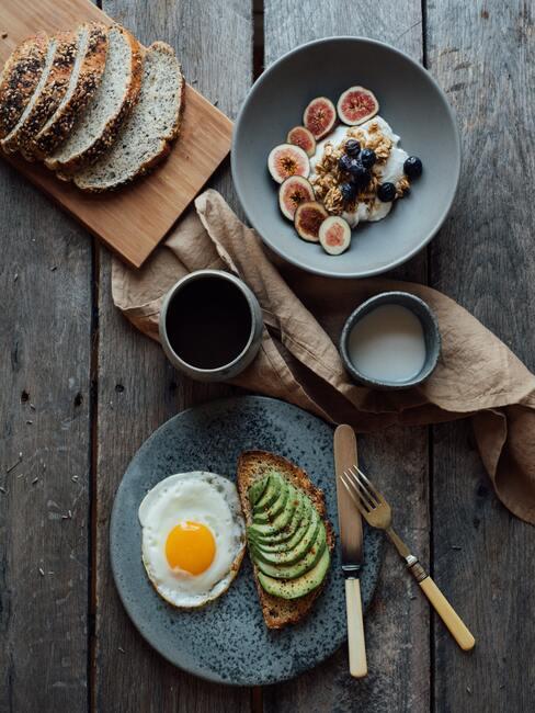 gezond ontbijtje in de ochtend