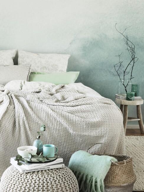 slaapkamer lichtblauw groen 3