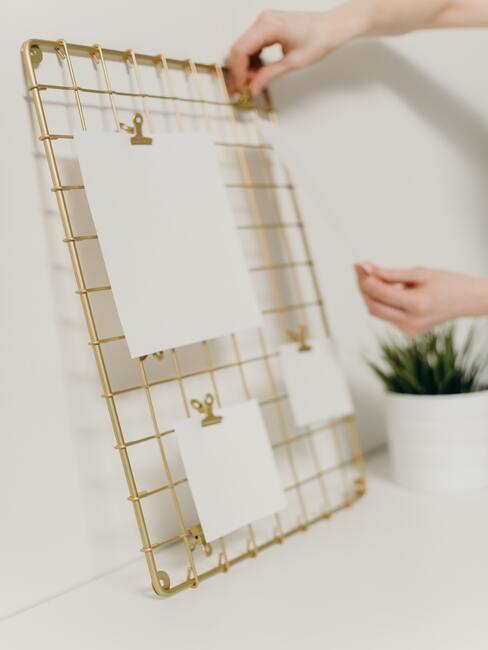 visionboard in goud