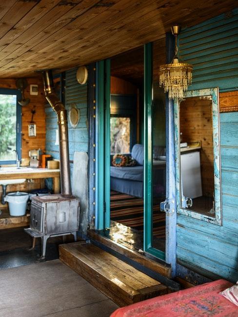 veranda in blauwe kleuren