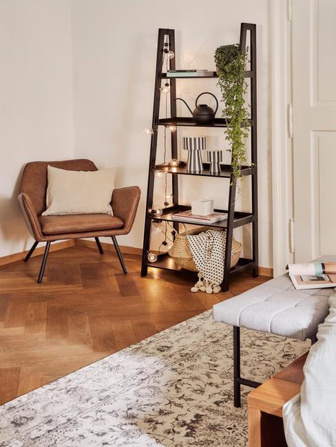 woonkamer in scandi stijl in beige