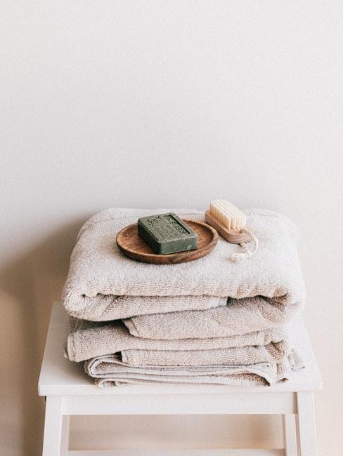 delicate handdoeken in grijs