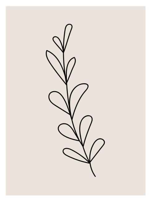 Line Art in de vorm van een plant