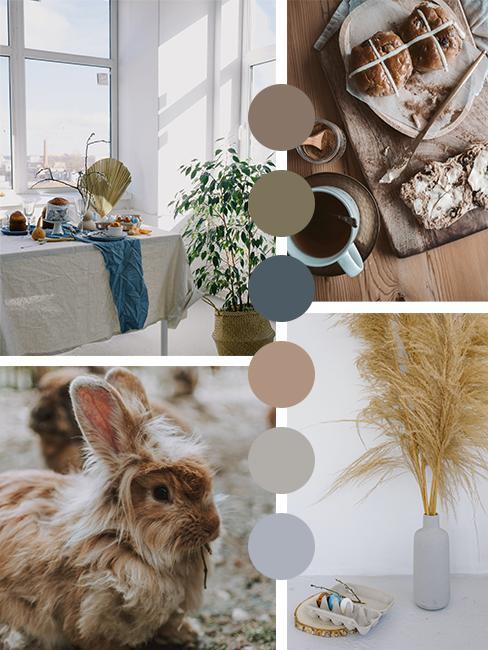 Wabi Sabi kleurenpallet voor paasdecoratie