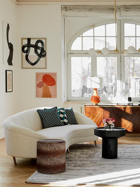 Huiskamer in vintage chic stijl