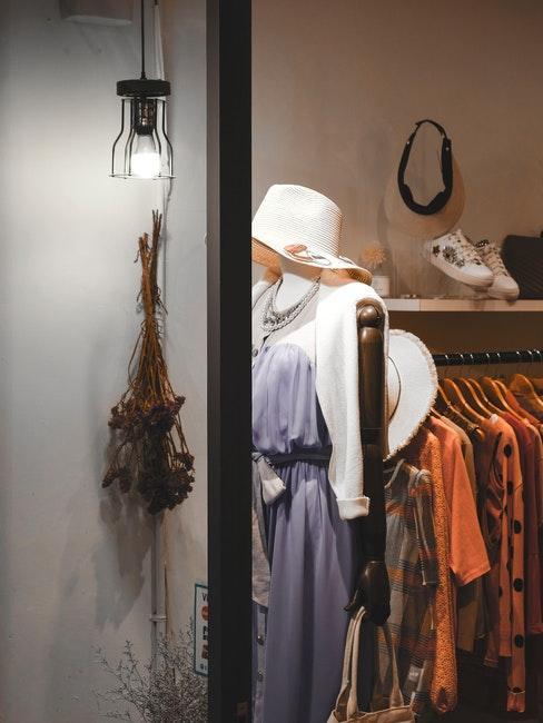 kleedkamer in een elegante stijl
