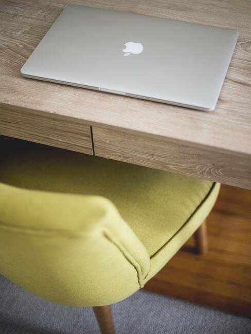 Zachte fluwelen fauteuil in geel