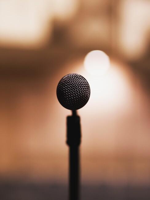 Microfoon om in the speechen