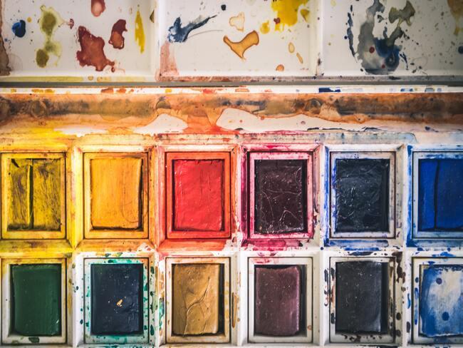 verschillende kleuren verf
