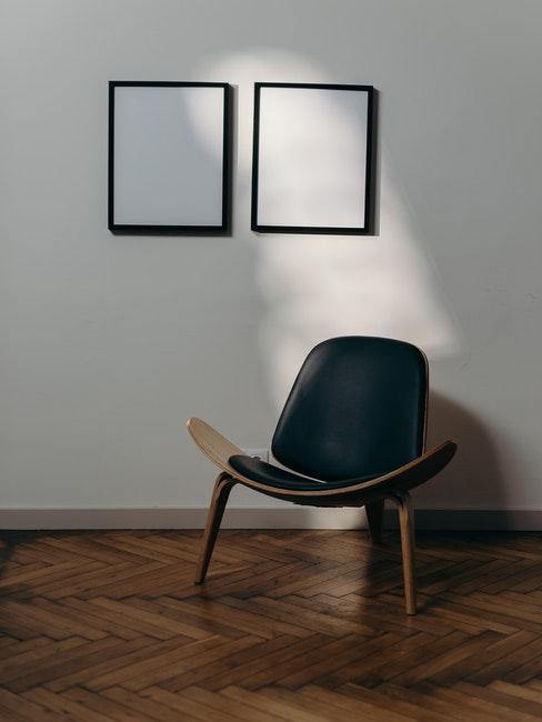 Leren fauteuil in de woonkamer