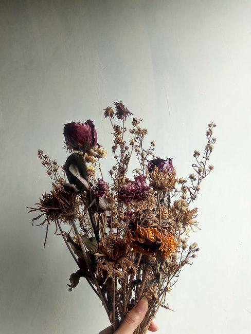 boeket met gedroogde bloemen