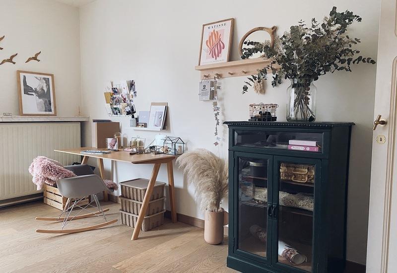 home office plek in het huis van Liesbeth