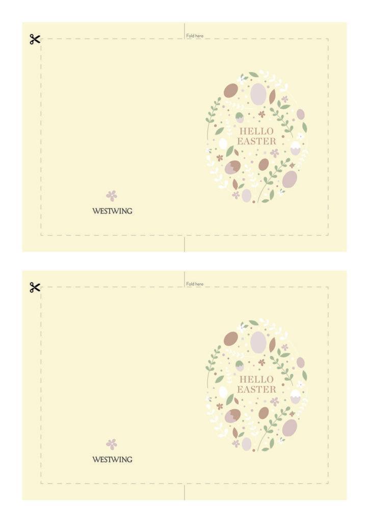 Westwing paaskaart geel