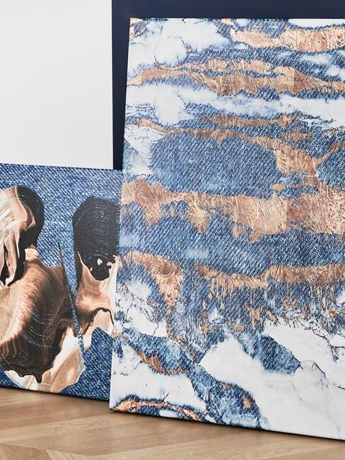 schilderijen met blauwe accenten
