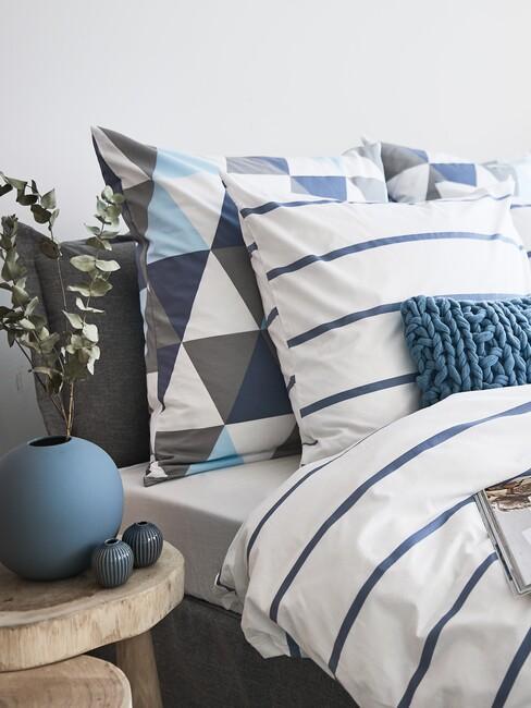 Slaapkamer met blauwe accenten