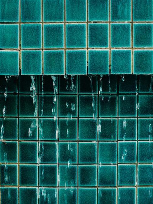 turkooise badkamer tegels