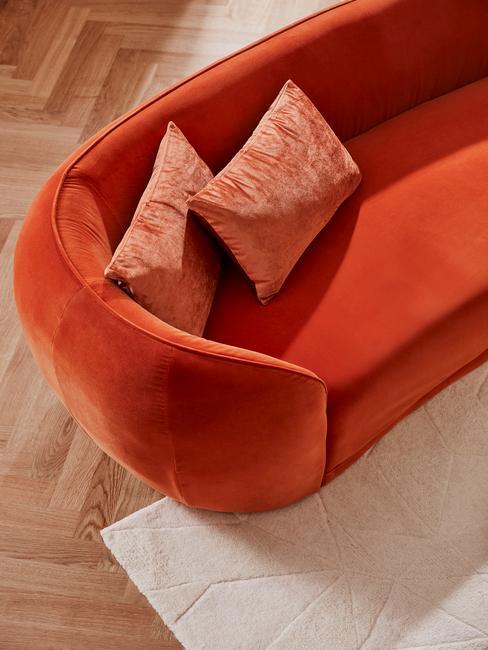 Oranje velvet bank