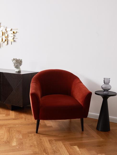 Wijnrode lounge stoel