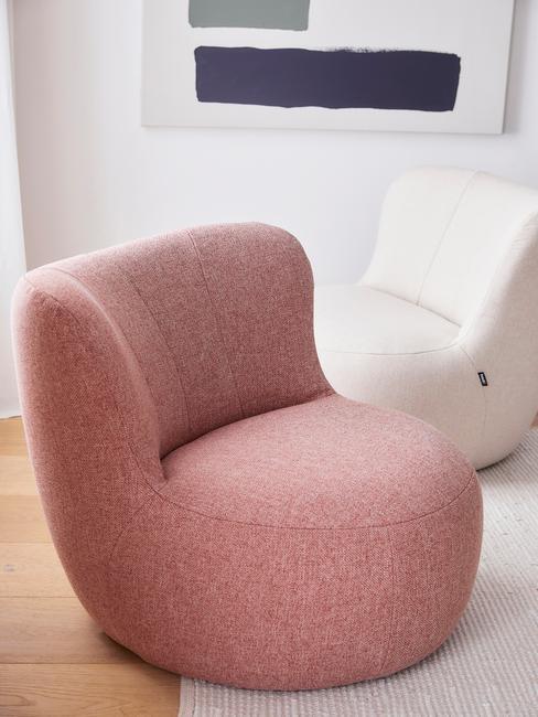 roze lounge stoel