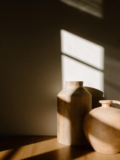 Terracotta ronde vasen