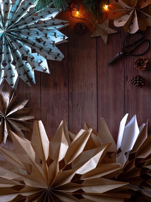 origami kerstversiering