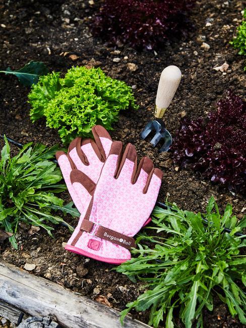 roze tuinhandschoenen