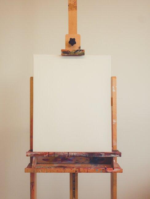 houten schildersezel