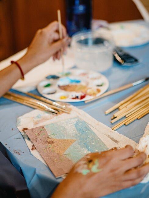 zelf een schilderij maken