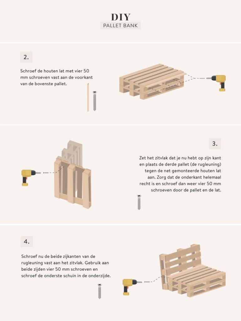 uitleg pallet bank zelf maken