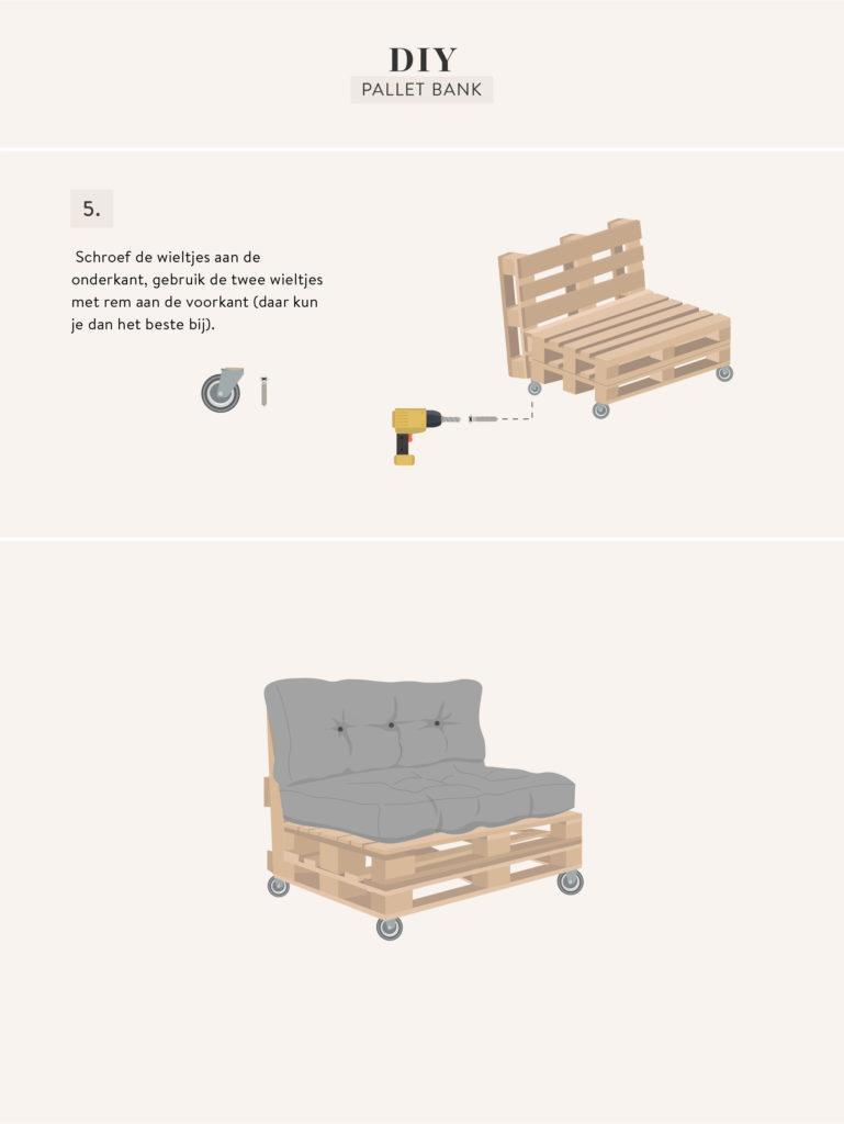 pallet bank maken DIY
