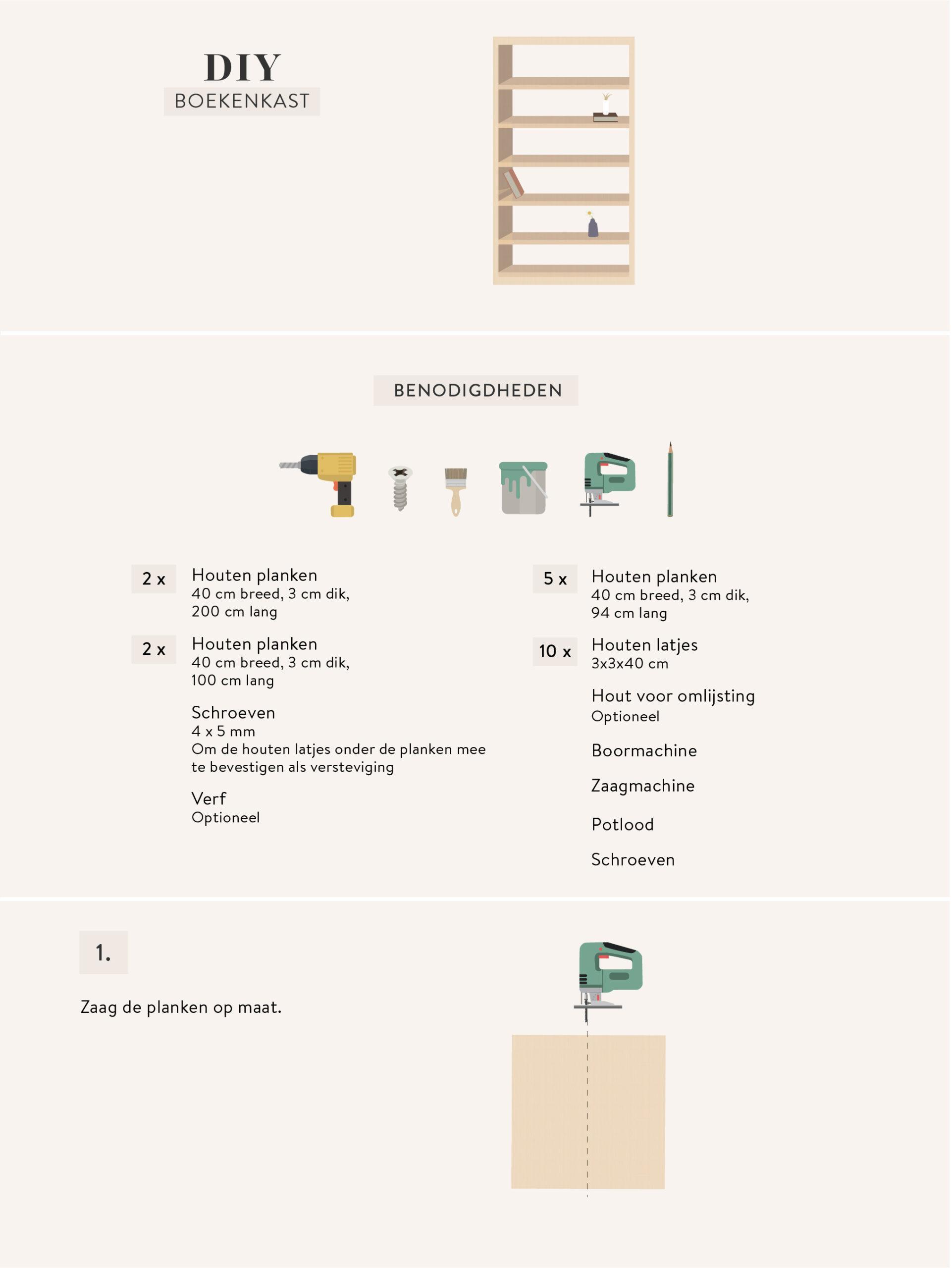 DIY zelf een boekenkast maken
