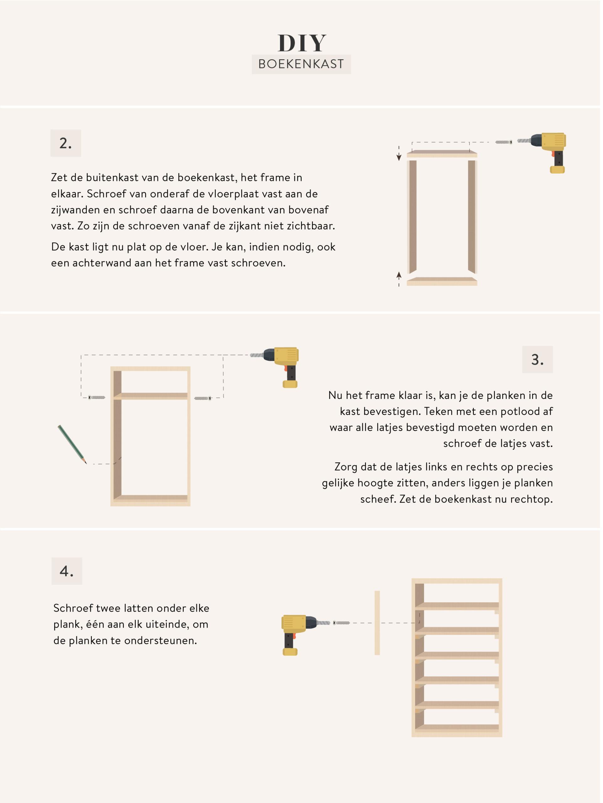 DIY zelf boekenkast maken