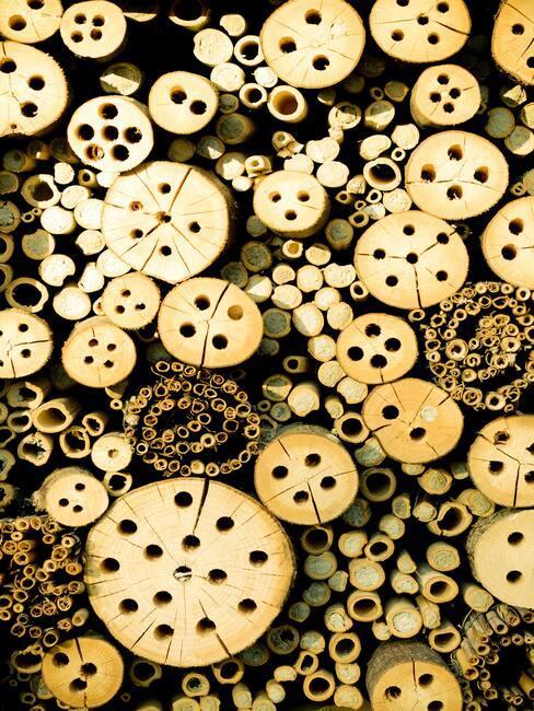 houten bijenhotel