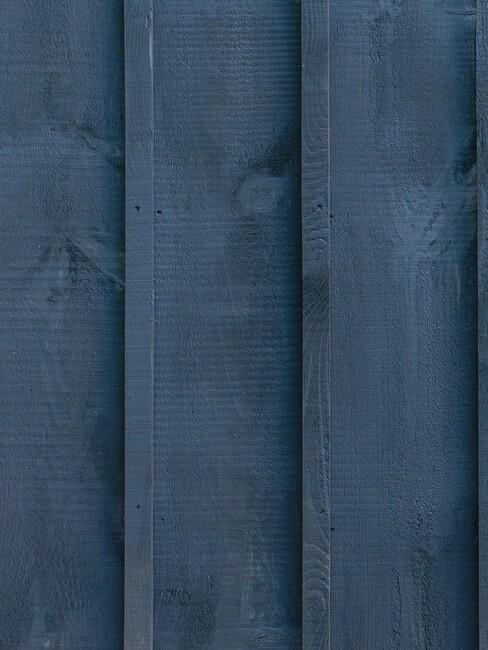 blauwe schutting
