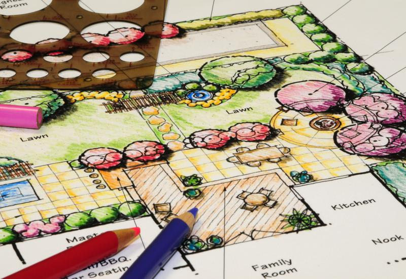 tekening van een beplantingsplan