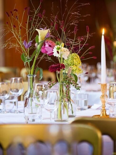 Kasteel Sterkenburg sierlijke decoratie voor bruiloft