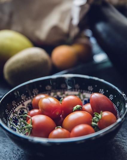 tomaten in een schaaltje